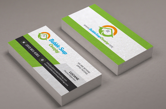 Bubble Soap Cleaning Services - Business Card